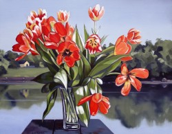 Tulips with View   22x28