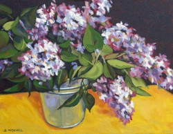Bucket of Lilacs   14x18
