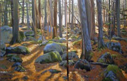 Frog Pond Woods Diptych   48x72