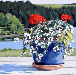 View with Flowers   30x30