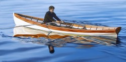 Young Man Rowing   24x48